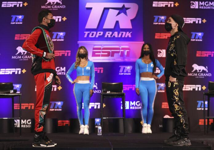 Miguel Berchelt vs Oscar Valdez, pesaje