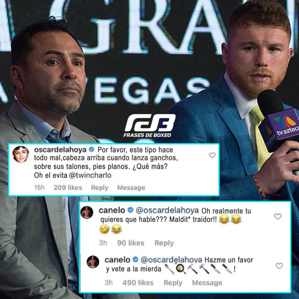 Canelo y Oscar Da La Hoya en disputa por Instagram